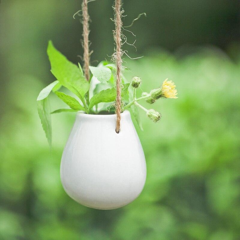 Japanese Ceramic Eggs Hanging Bottle Pastoral Cute Small