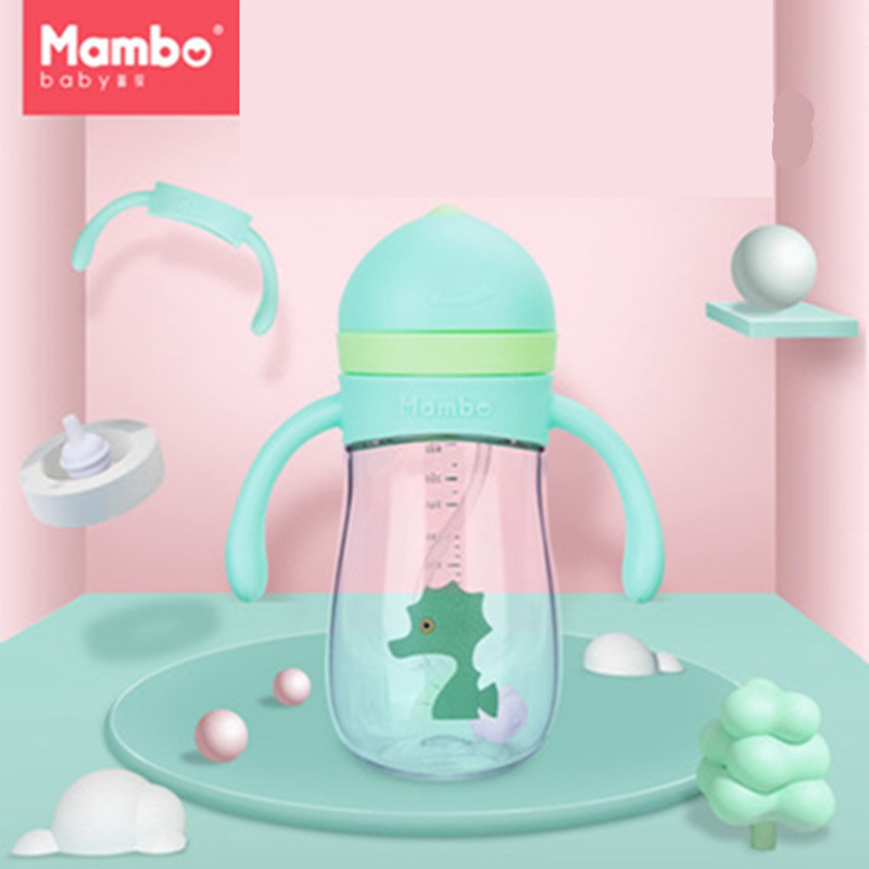 360 Degrees <font><b>Can</b></font> Be Rotated Baby Learning <font><b>Drinking</b></font> <font><b>Cup</b></font> With Double Handle Flip lid Leakproof Infants Water <font><b>Cups</b></font> Bottle