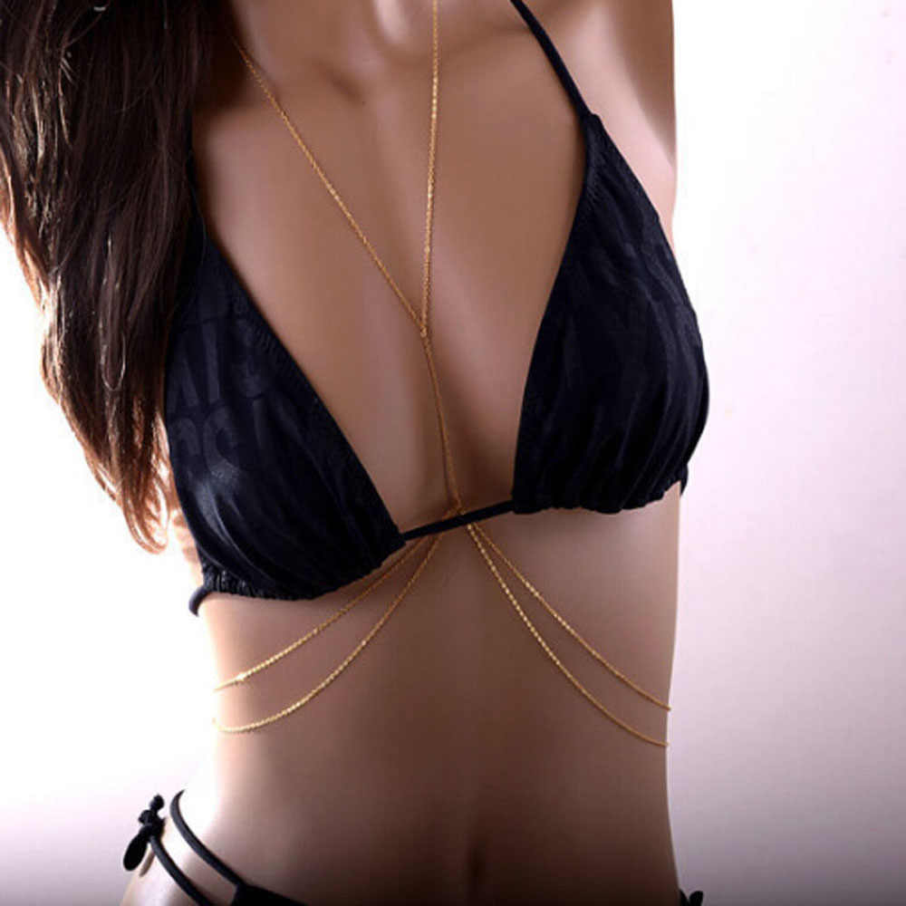 1Pcs Newest Fashion Sexy Body Chain Harness Crossover Belly Waist Bikini Beach Slave Fashion Jewelry Summer Wear Nice Gift