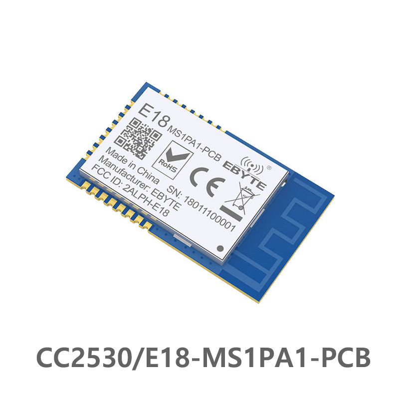 CC2530 2.4GHz  Zigbee Cdebyte PA Wireless RFID Transceiver Module E18-MS1PA1-PCB PA PCB Antenna I / O Port IoT Data Transceiver