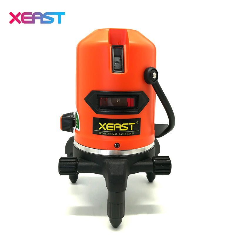 XEAST Laser Level 5 Lines 6 Points Level Tilt Function 360 Rotary Self Lleveling Outdoor EU 635nm Corss Line Lazer Level Tools laser cast line instrument marking device 5 lines the laser level