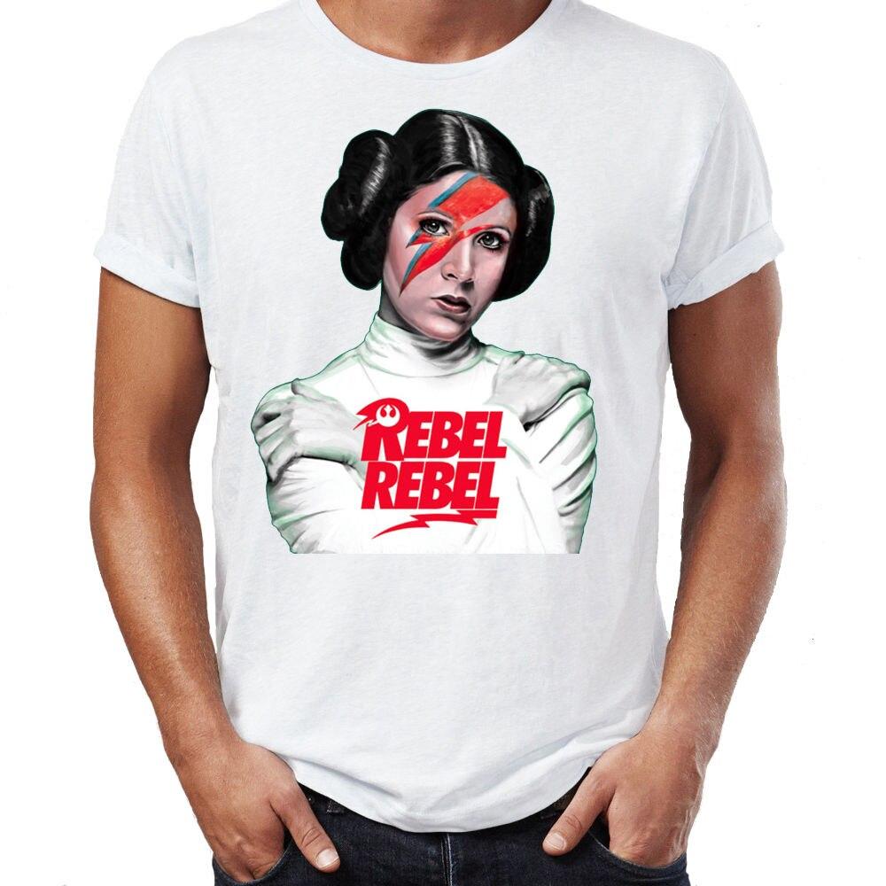 2019 New Summer Style Fashion T shirt Princess Leia Bowie ... Old Princess Leia Shirts