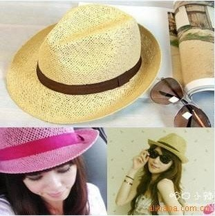 Free shipping Sexy Lovely Lady girl woman Grace hat beach hat sun hat summer Travel hat Straw hat Leisure hats Best discount