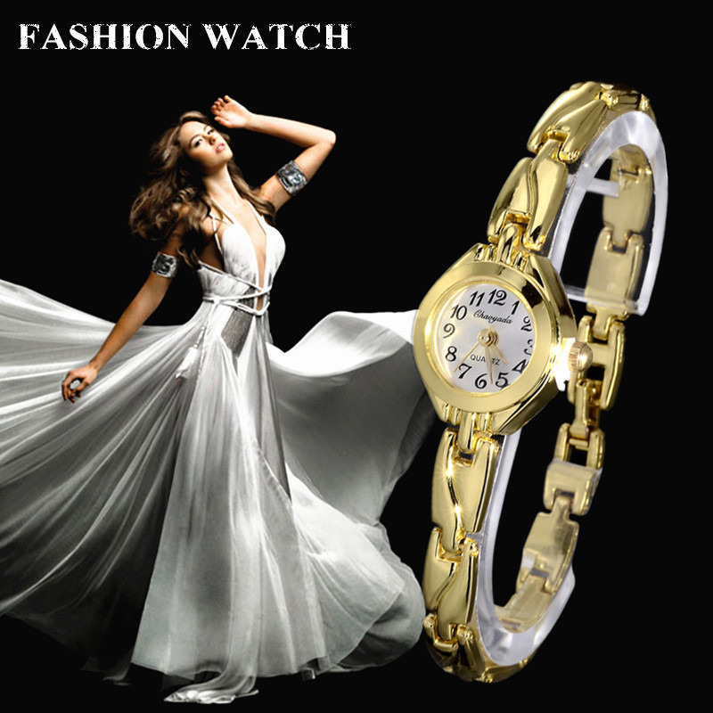 Women Watch Fashion Casual Gold Stainless Steel Bracelet Watch Small analog Dial Female Wristwatch Hour Clock elegant Relojes(China)