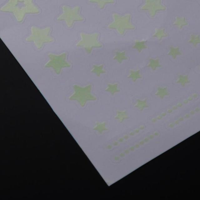 Moon Star Fluorescence Glow in Dark Luminous Vinyl Removable Kids Child Bedroom Wall Stickers