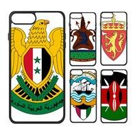 Zwitserland Zweden Syrië Maleisië Malta Nationale Embleem Land Symbool Telefoon Case voor iPhone X 7/8 Plus Gevallen Phonecase Cover
