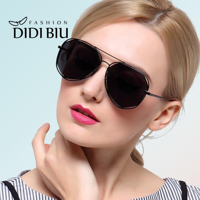 bed1ac4bc2f Polarized Geometric Hexagonal Sunglasses Women Gold Black Men Polygon Wire  Frame Thin Sun Glasses Summer Driving Eyewear W187