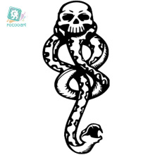 Rocooart RC2210 Water Transfer Temporary Tattoo Sticker Chest Design Halloween horror Black Snake Tattoo Body Art Tattoo Sticker