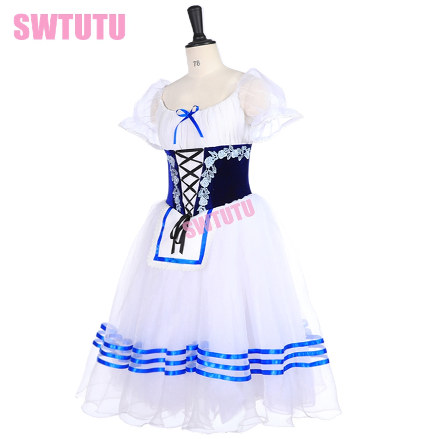 giselle blue white peasant ballet costume tutu professional ballet long tutu ballerina romantic tutu Napoli ballet dress BT9238