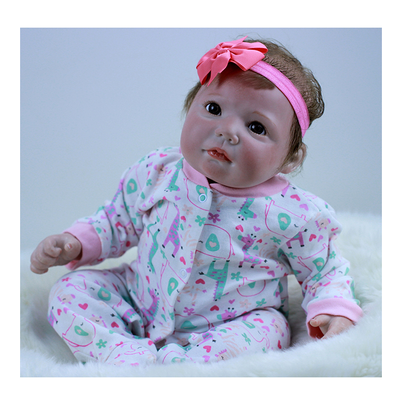 Realistic Silicone Vinyl Reborn Babies Girl 20 inch Real Life Newborn Baby Dolls Personalized Kids Reborn Gift Toy and Playmates 23 russian silicone reborn baby girl full body vinyl dolls touch real baby dolls lifelike real hair new 2017 kids playmates