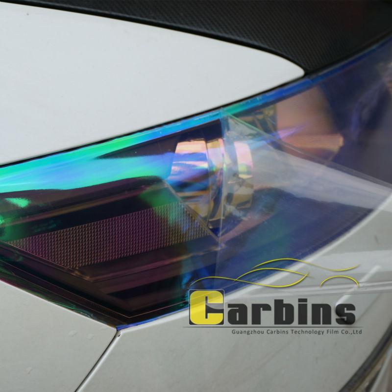 Us 449 10 Offcarbins Kameleon Reflektor Barwiony Film Mgłaświatła Tylne Pokrywa Naklejka Arkusz Z Polichlorku Winylu Neon Kolor Samochodu Folia