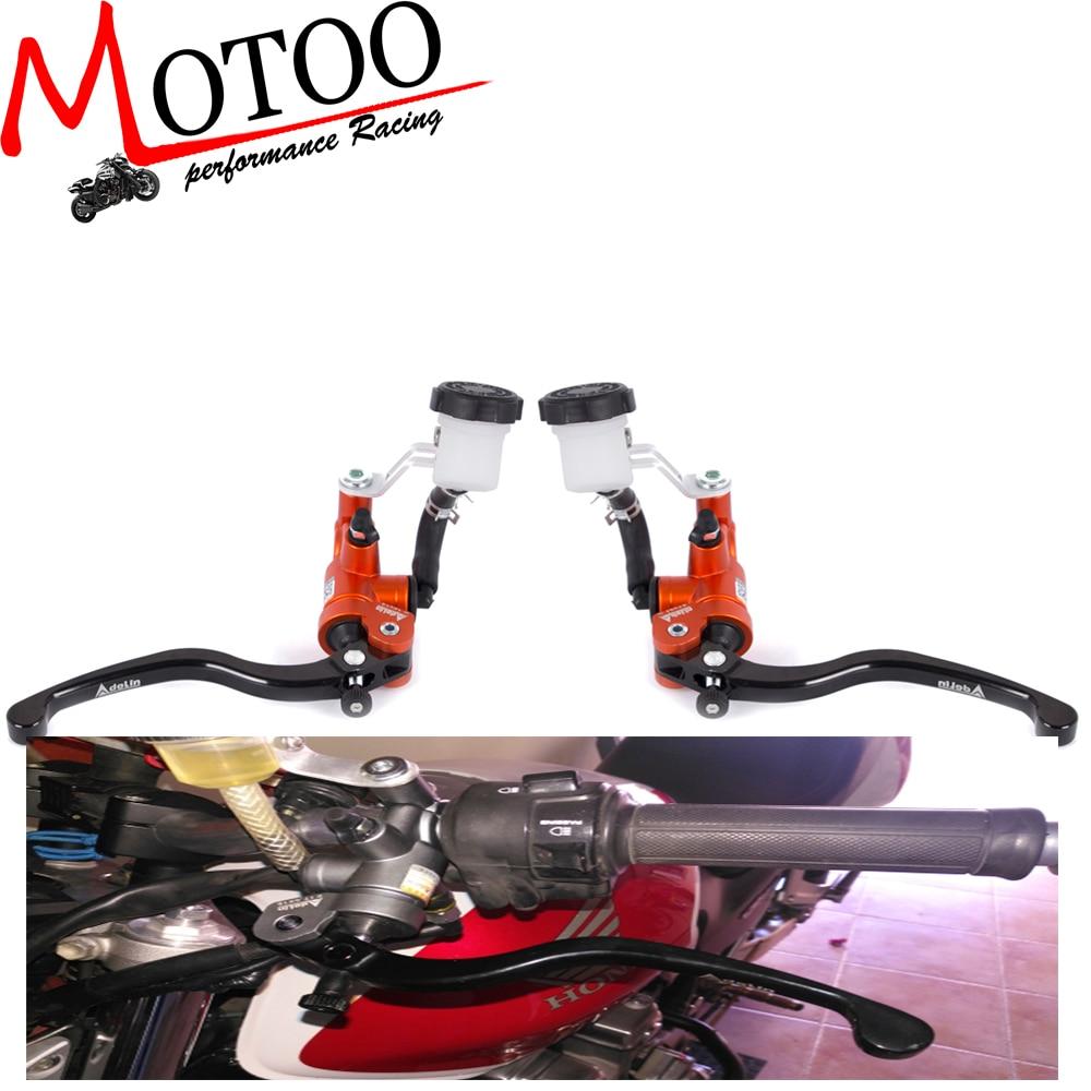 Motoo - Motorcycle 19X18 Brake Adelin Master Cylinder Hydraulic with 16x18 Clutch master cylinder FOR HONDA FZ6 GSXR600 Z750 цена и фото