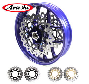 Arashi YZF-R1 15-17 Front Wheel Rim Brake Disc Rotor Disc Fit YAMAHA YZF R1 2015 2016 2017 Glossy Blue 6061-T6 Aluminum