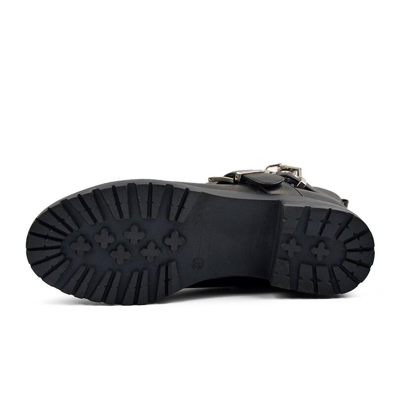 دونا في جلد طبيعي منتصف العجل النساء أحذية كعب منخفض الصوف بطانة الشتاء أحذية ثلج 2019 الأزياء معدنية سستة أحذية ركوب الخيل-في أحذية منتصف ربلة الساق من أحذية على  مجموعة 2
