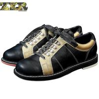 Zuoxiangru Full Leather Men Bowling Shoes Private Men Skidproof Sole Professional Sports Bowling Shoes Slip Sneakers