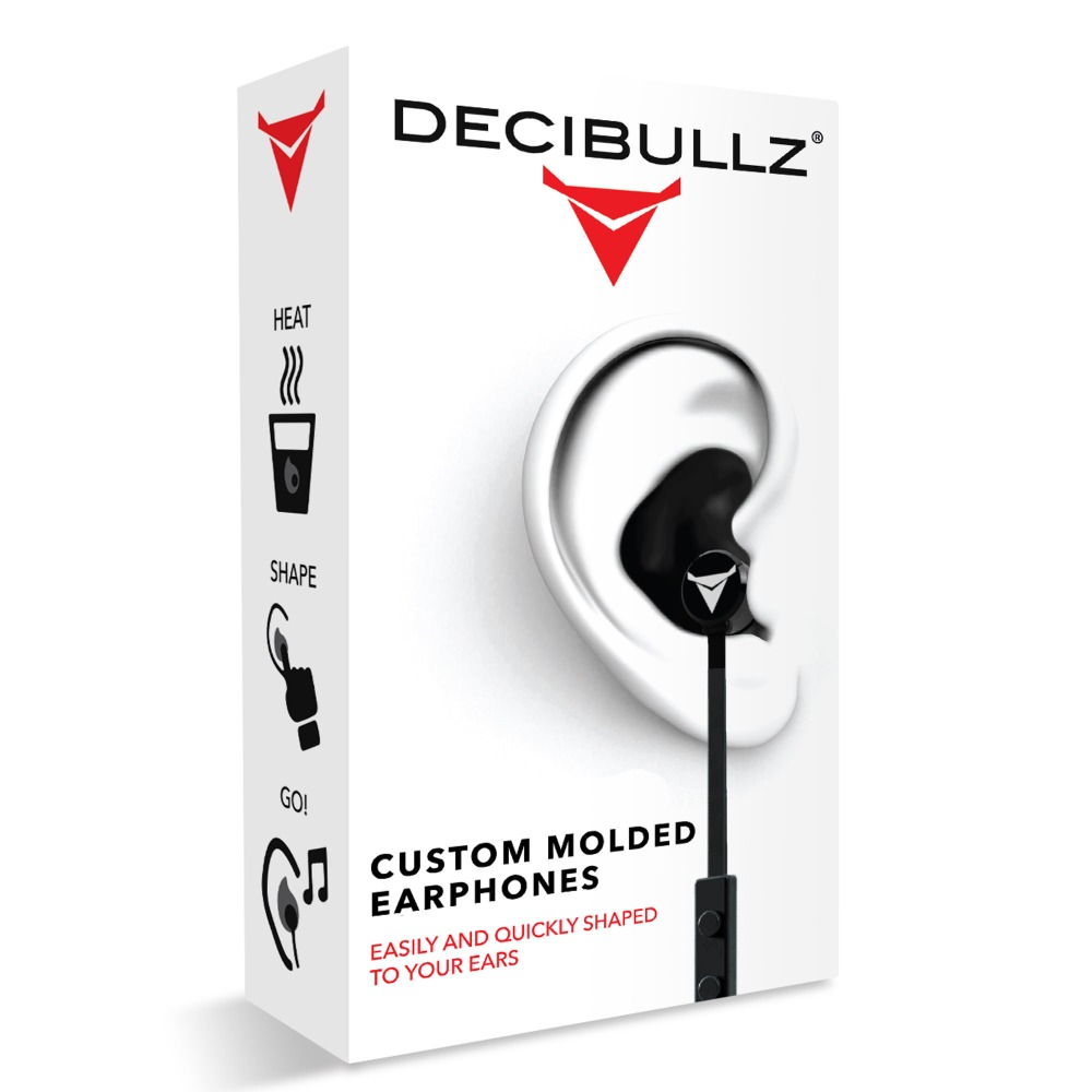 Música fone de ouvido earplug redução de ruído Decibullz PERSONALIZADO MOLDADO CONTORNO ES FONES de OUVIDO música com nenhum ruído