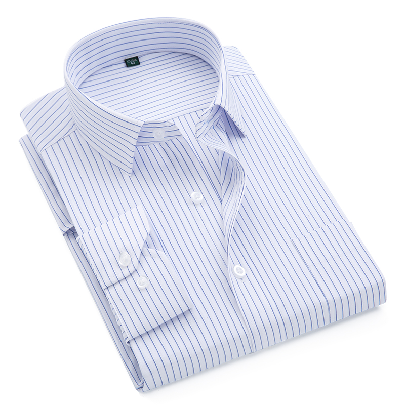2019 Brand New Men Shirt Male Dress Shirts Striped Men's Fashion Casual Long Sleeve Business Formal Shirt Formal camisa social(China)