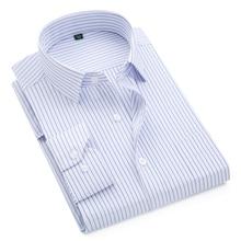Новинка, брендовая мужская рубашка, мужские рубашки в полоску, мужская повседневная рубашка с длинным рукавом, деловая официальная рубашка в клетку, camisa social
