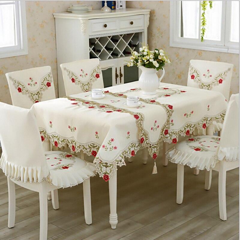 Europaischen Luxus Tischdecke Mit Spitze Rand Polyester