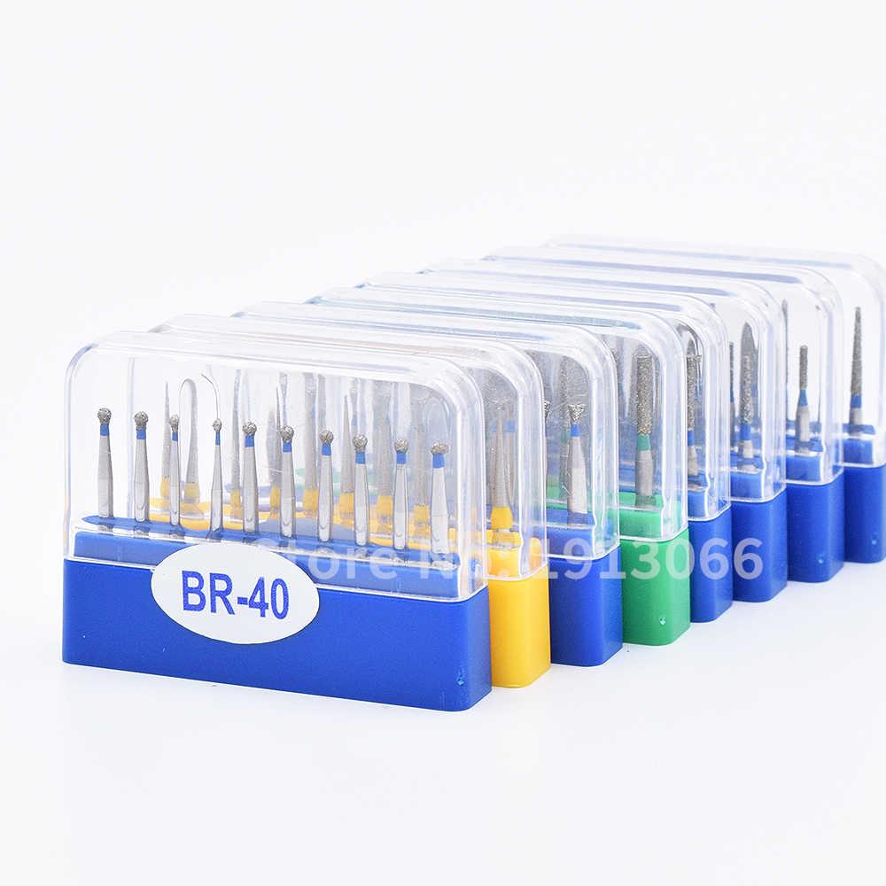 Burs יהלומי שיניים באיכות גובה 50 יחידות Burs השיניים burs קרביד שיניים חומר