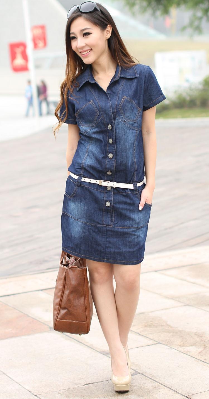 High Quality Blue Jean Dresses for Women-Buy Cheap Blue Jean ...
