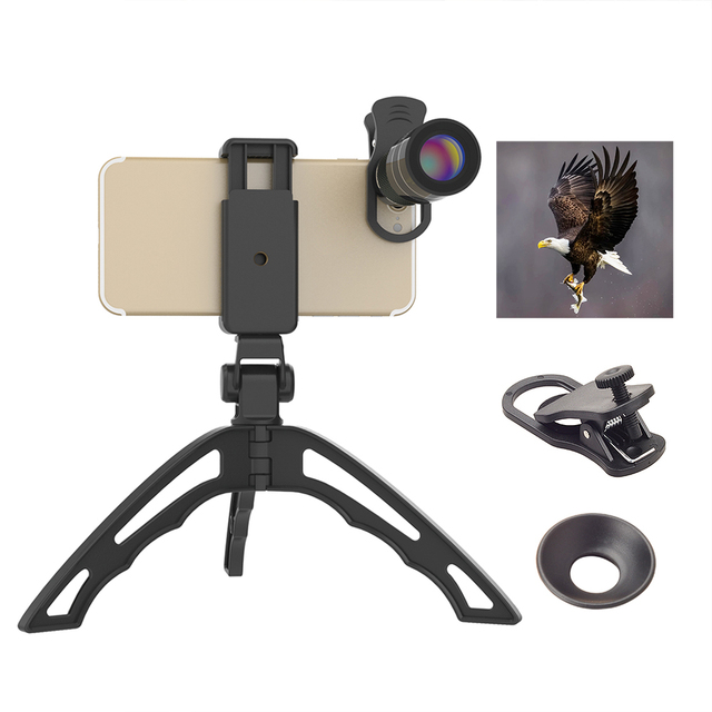 APEXEL 20X Telephoto Zoom Lens portable 20x monocular telescope lentes with selfie tripod for iPhone Samsung Smartphones 20XJJ04 4