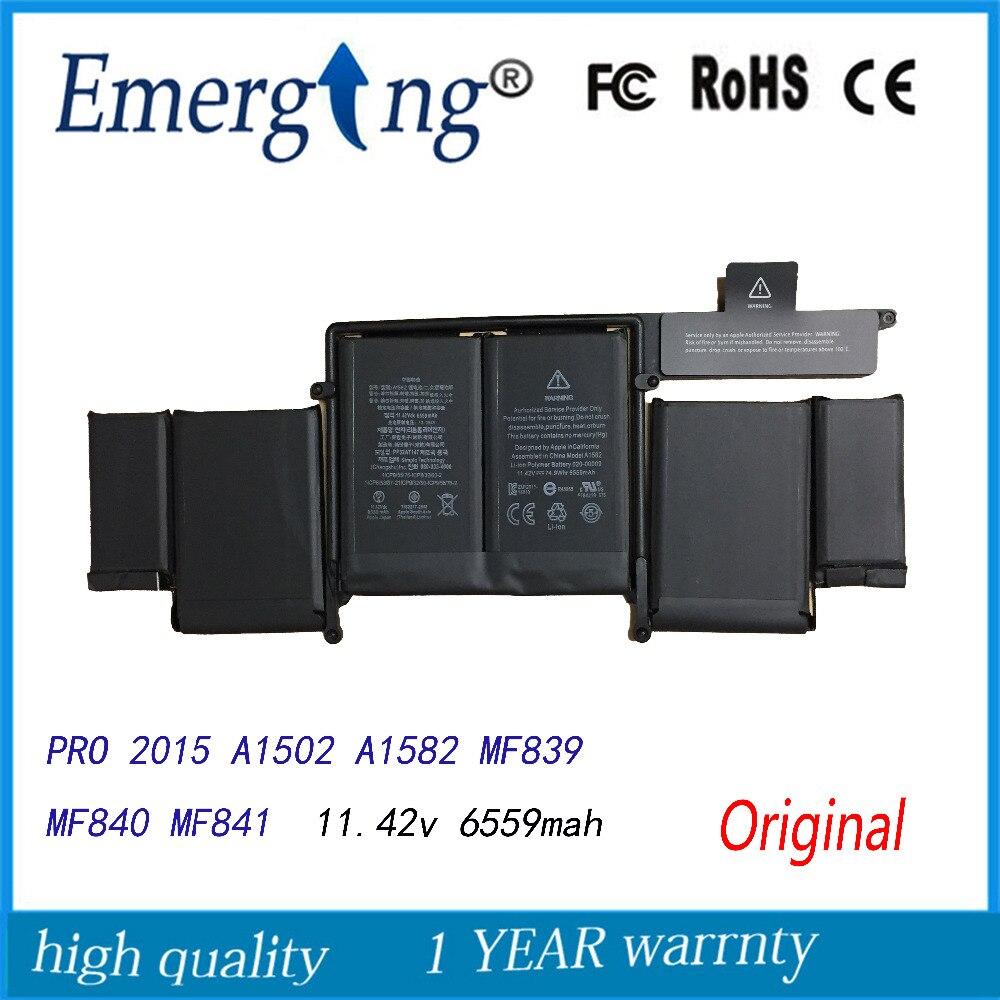 11.42 V Nouvelle Batterie D'ordinateur Portable D'origine A1582 pour Apple MacBook Pro 13 Retina A1502 2015 année Avec Outils