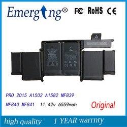 11,42 V nueva batería Original del ordenador portátil A1582 para Apple MacBook Pro 13 Retina A1502 2015 Año con herramientas