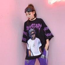 De tendencias 2018 verano nueva moda patrón de fumar camiseta mujeres hip  hop estilo camiseta vendaje manga corta 3c438f1d9dd