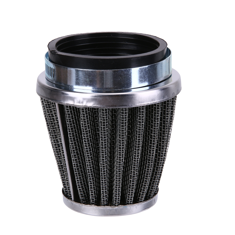 Promotion 39mm 2 Layer Stålnätfilter Gasväv Motorcykel Svamp Clamp-on Air Filter Cleaner Bil styling Inredning tillbehör