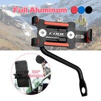 Universal Aluminum Motorcycle Phone Holder For iPhoneX 8 7 6s 360 Degree Electrombile Phone Holder For GPS Bike Handlebar Holder