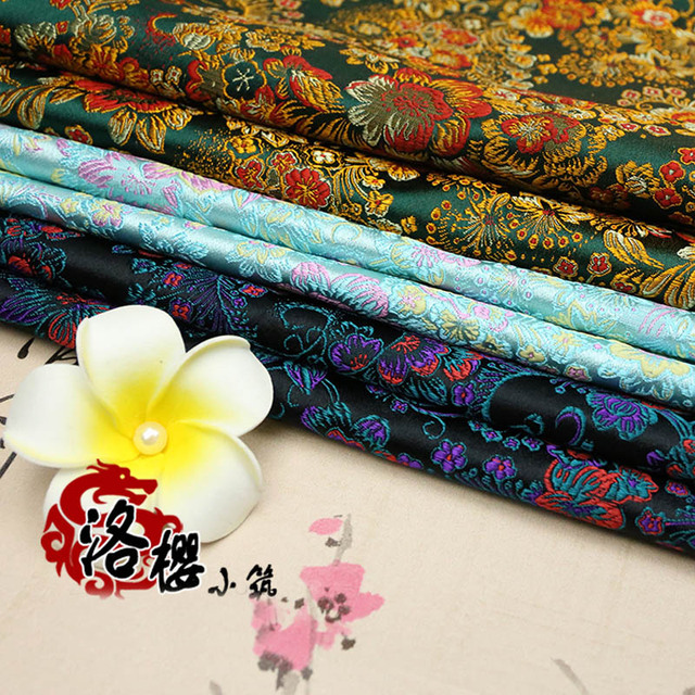 Woven damask cheongsam costume hanfu cos baby clothes traditional formal dress silk advanced clothes jacquard brocade fabric