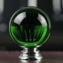 40mm Luxury Green Crystal Wine Cabinet handles Drawer knobs Silver chrome  Dresser Drawer Wardrobe Furniture knobs handles pulls