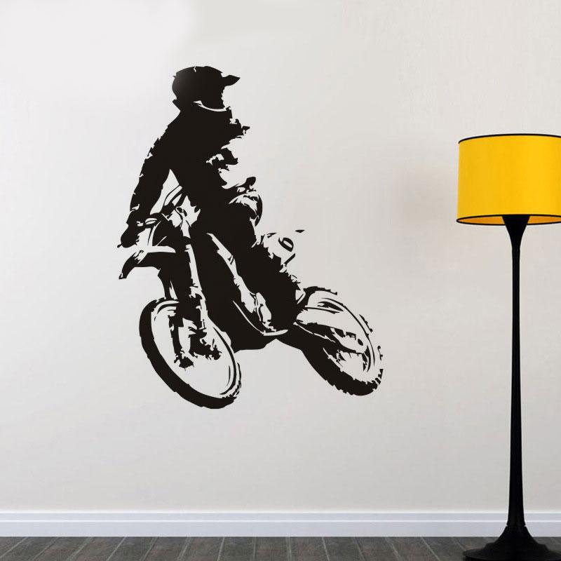 Moderno creativo fresco coche motocicleta jinete patrón Adhesivos de ...