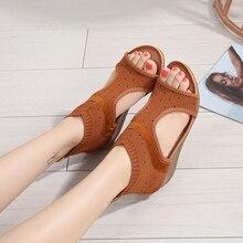 Женские сандалии в этническом стиле; Mujer; сезон весна-лето; замшевые сандалии с круглым носком; женская обувь; женские сандалии