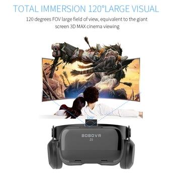BOBOVR Z4 Update BOBO VR Z5 120 FOV 3D Cardboard Helmet Virtual Reality Glasses Headset Stereo Box for 4.7-6.2' Mobile Phone     1