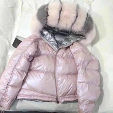 Пальто с натуральным мехом, Воротник из натурального Лисьего меха,, зимняя куртка, женский свободный короткий пуховик, куртка на белом утином пуху, Толстая теплая пуховая парка