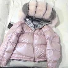 Real Fur Coat Natural Fox Fur Collar 2019 Winter Jacket Wome