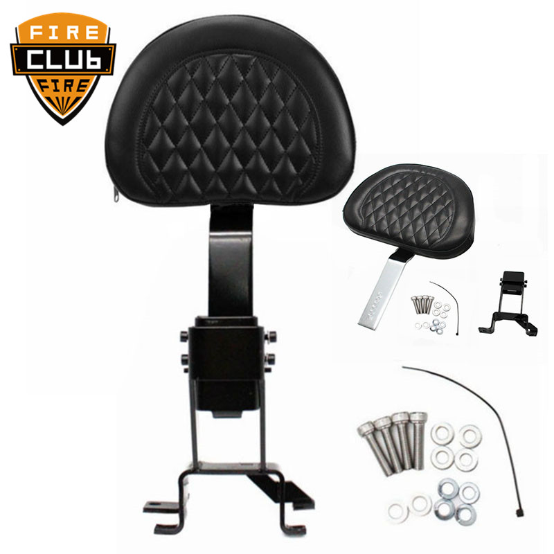 Adjustable Drive Backrest W/ Mounting Black/Chrome Kits Motorcycle Diamond For Indian Chief Classic Roadmaster 2014-2017 2018