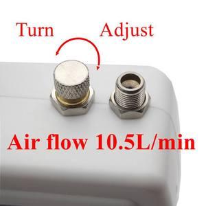 Image 4 - Tác Động Kép Bộ Phun Mini Compressor 12V Air Brush Súng Cho Tranh Nghệ Thuật Trang Điểm Làm Móng Tay Thủ Công Mẫu Bình Bơm Phun Sơn Móng Tay bộ Dụng Cụ