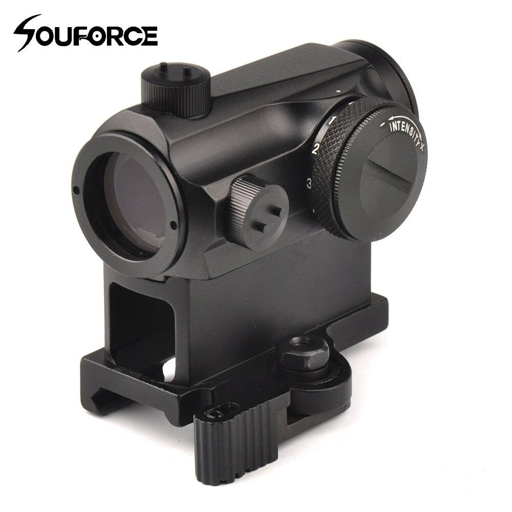 Мини 1X24 Rifescope прицел с подсветкой снайпер красный зеленый точка зрения с Quick Release Red Dot Scope крепление для охоты воздуха