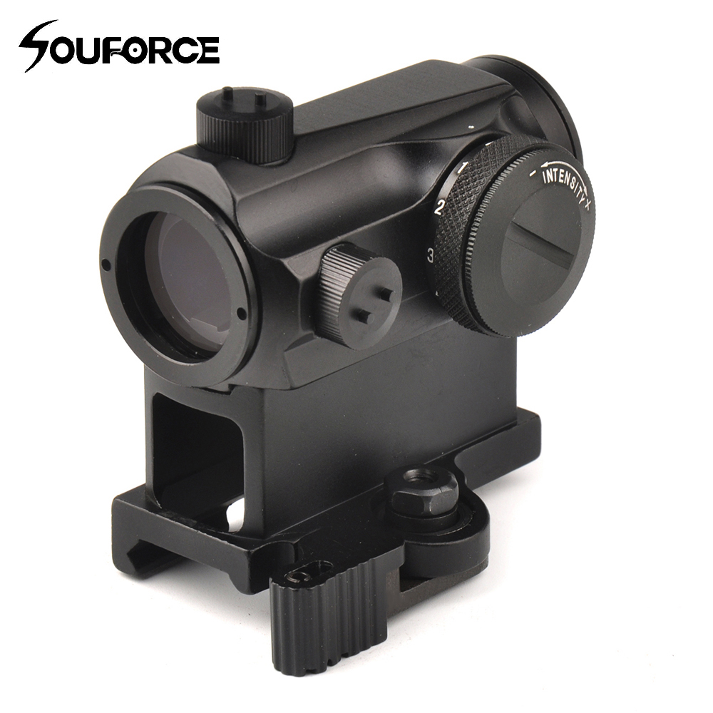 Mini 1X24 Rifescope Sight Illuminated Sniper Red Green Dot Sight con attacco rapido Red Dot Scope Mount per caccia Air
