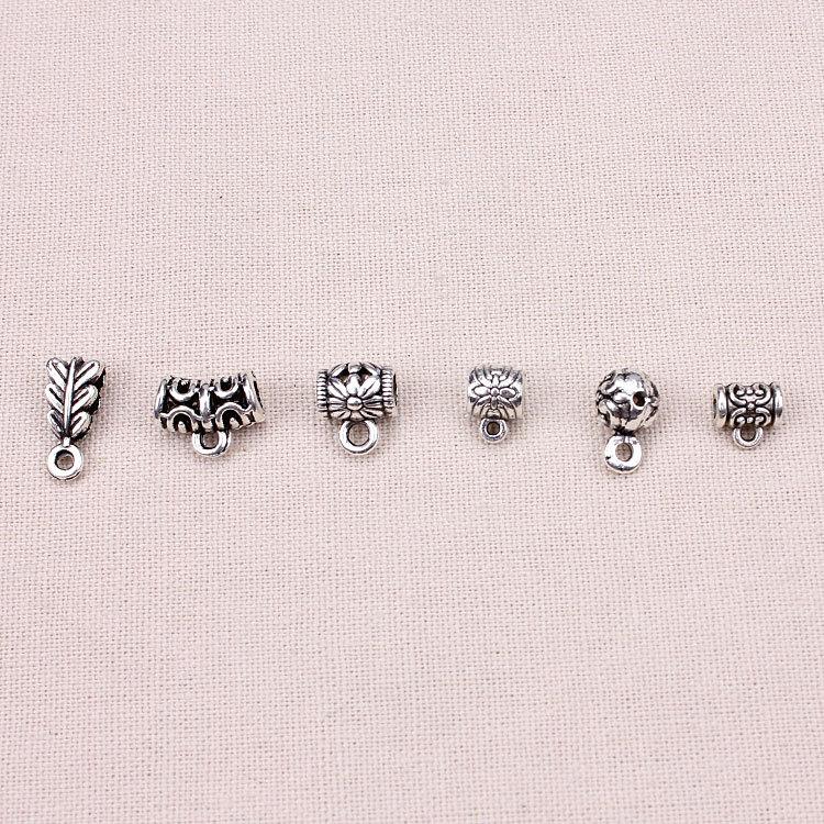 20pcs/lot Zinc Alloy Antique Silver Jewelry Pendant Carrier For DIY Bracelets DIY Accessories cute novel zinc alloy couple cup pendant keychain silver 2 cps