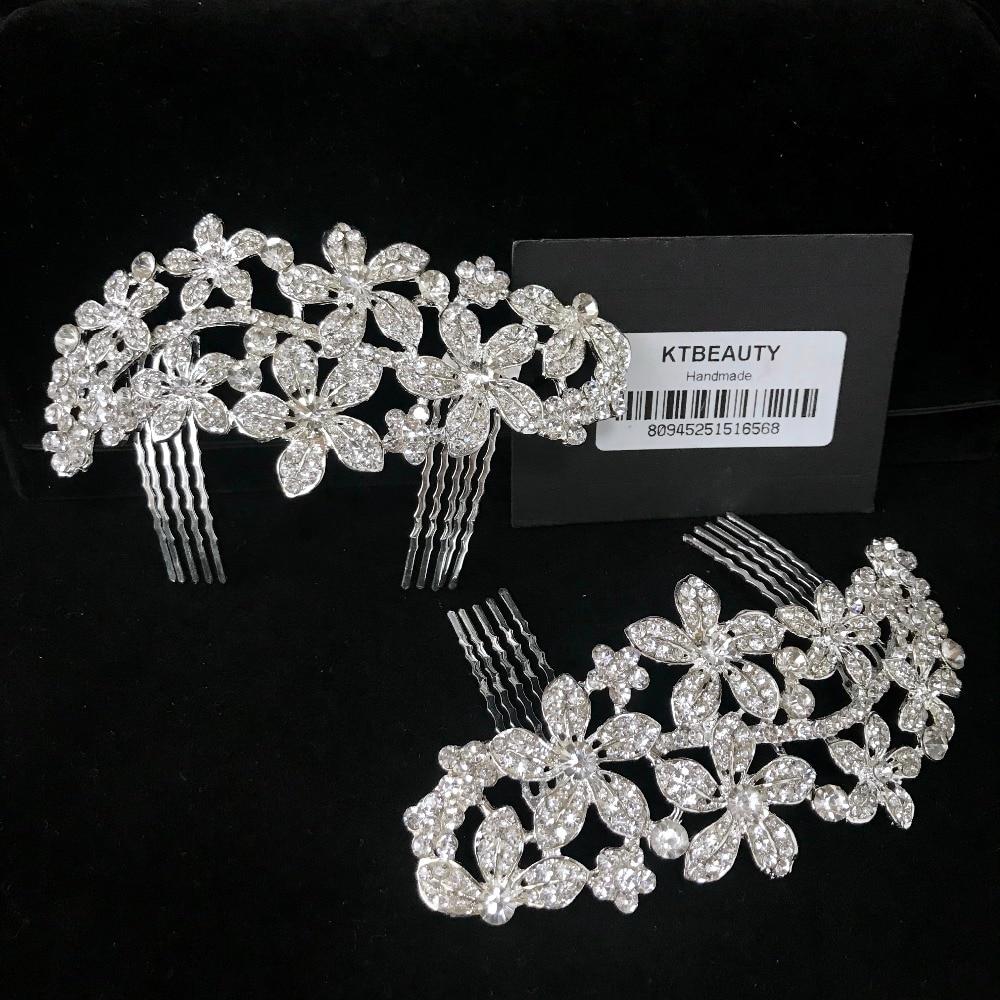 Wiadomości Rhinestone srebrny grzebień Tiara Handmade moda opaska do włosów Royal dla nowożeńców Wedding Dressing korona akcesoria kobiety biżuteria w Biżuteria do włosów od Biżuteria i akcesoria na  Grupa 1