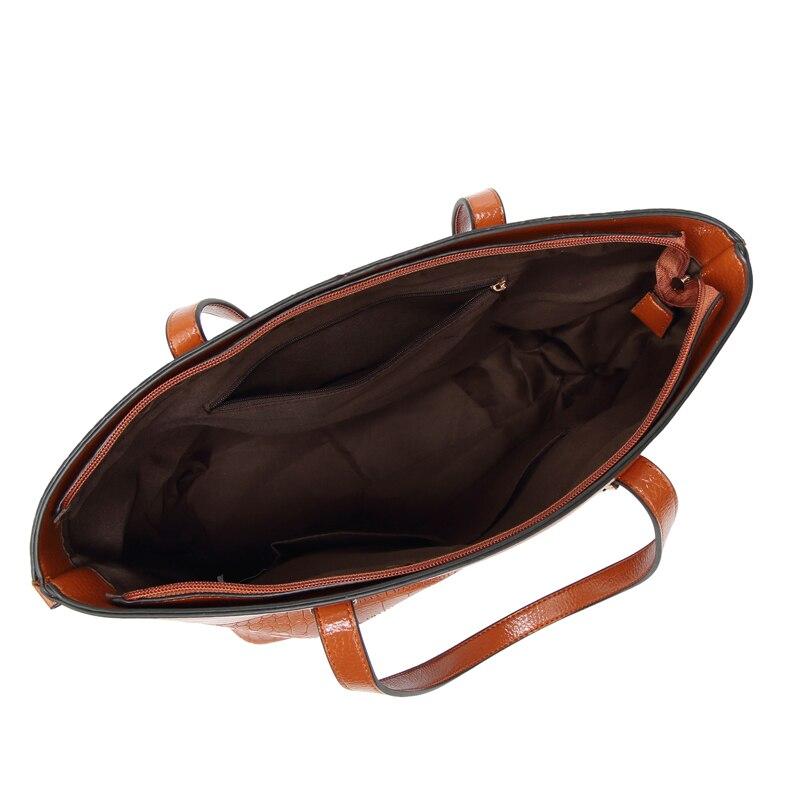 Coccodrillo gray Del Black Lusso Marca Borse Spalla Qualità brown Progettista Cuoio Sacchetto red Alta Di Donne Solido Colore Crossbody Borsa khaki Signore Messaggero Delle RHRwF4qUAx