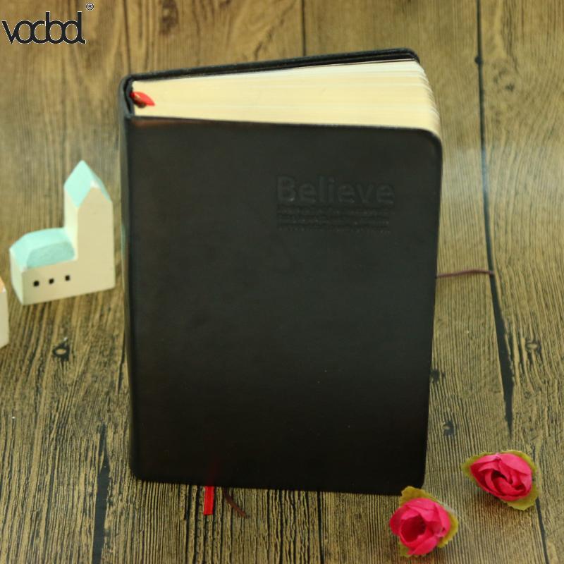 Cuaderno de papel grueso Vintage Bloc de notas cuero Biblia diario libro revistas Agenda planificador escuela Oficina papelería suministros