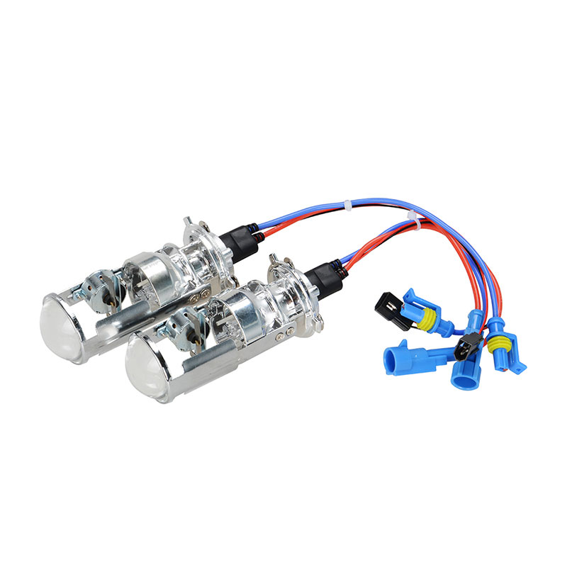 RACBOX Pair 55W H4 LHD RHD Bi-Xenon Bulbs HID Bulb Light Lamp Hi/Lo Beam Headlight 1.5 Micro Mini Projector Lens 4300K 6000K