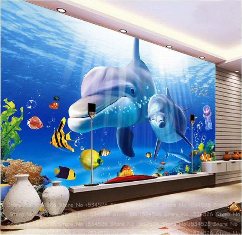 3d nemo kids wall paper fresco papel de parede tapete for Wallpaper 3d for kids