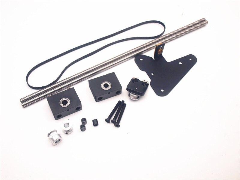 Funssor CR-10 double Z axes mise à niveau kit Pour Creality CR-10/ENDER3 3D Imprimante unique moteur double Z axe poulie mise à niveau