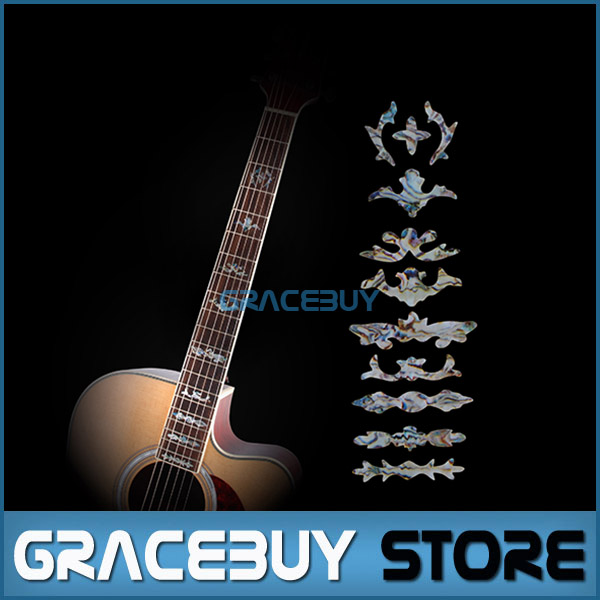 Guitar Fret Inlay Stickers Imitation Abalone Fretboard Neck Decals Marker For Acoustic Electric Guitarra New acoustic guitar neck fingerboard fretboard for guitar parts replacement rosewood zebrawood veneer